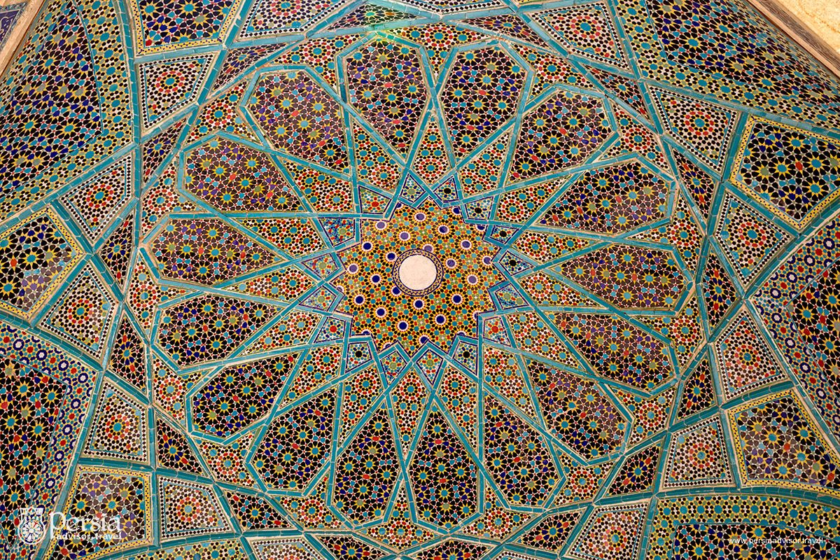Hafez Mausoleum, Ceiling Decoration - Shiraz, Fars Province, Iran (Persia)