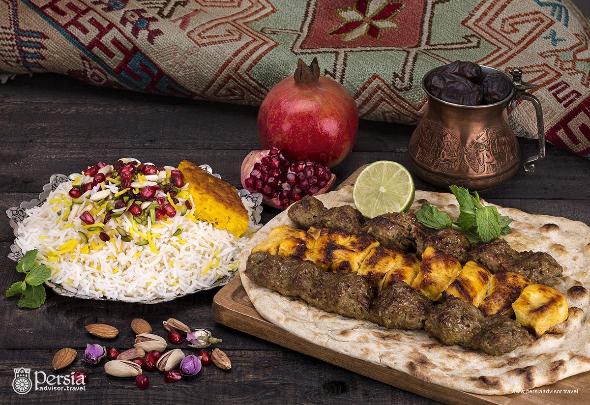 Persian Food, Iranian Cuisine, Chelo Kabab - Persia Advisor Travel