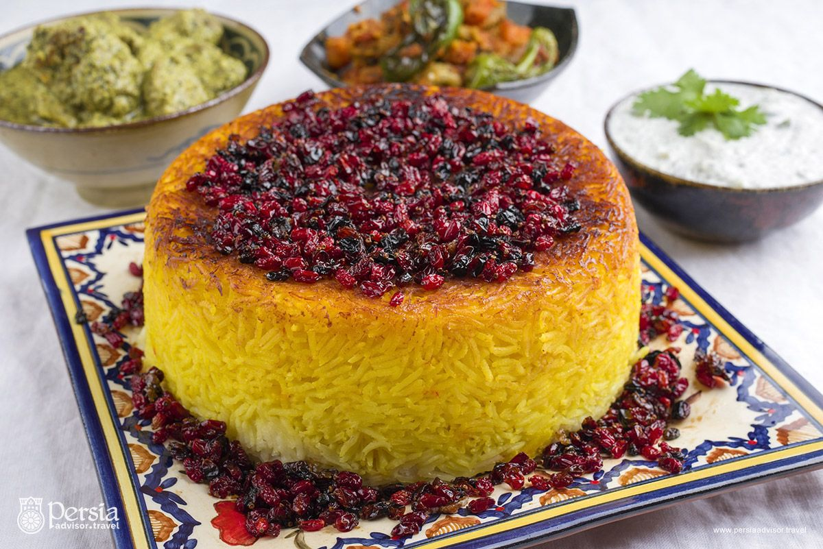 Persian Food, Iranian Cuisine, Tahchin - Persia Advisor Travel